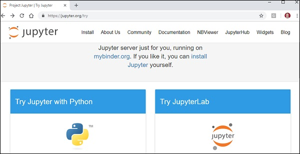 Try Jupyter with Python