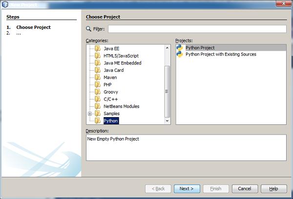 Jython - NetBeans Plugin and Project - Tutorialspoint