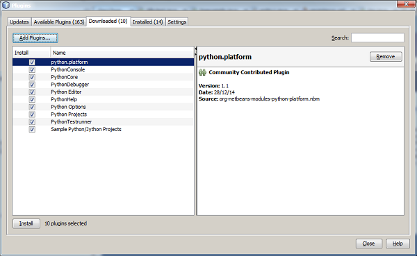 Jython - NetBeans Plugin and Project