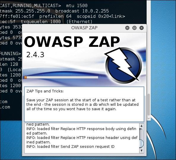 ZAP-OWASP Zed攻击代理工具的使用-kali Linux