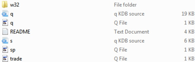 KDB+ Example Files