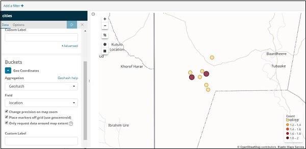 Kibana - Working With Coordinate Map - Tutorialspoint