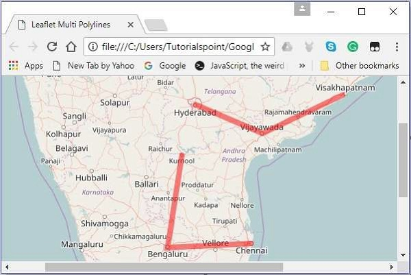LeafletJS - Multi Polyline and Polygon