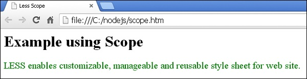 Less Scope