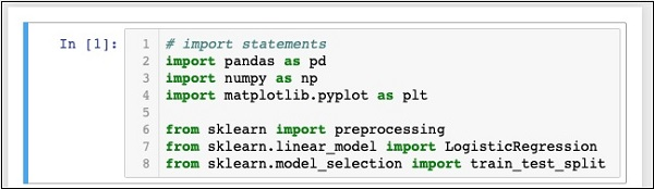 Logistic Regression in Python Setting Up a Project