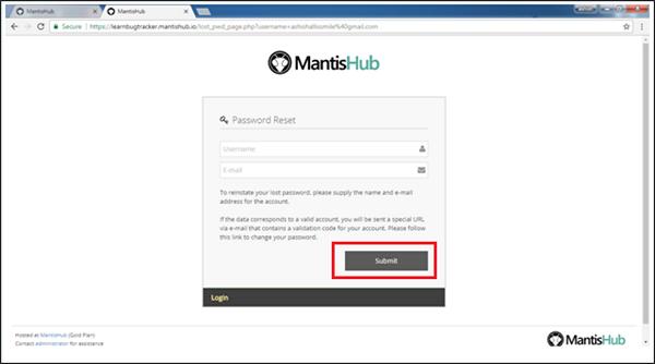 Password Reset Link