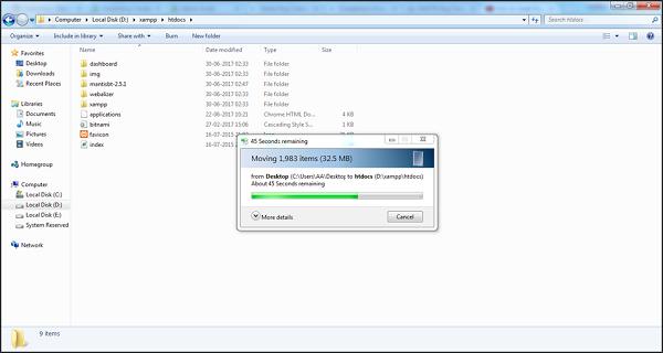 XAMPP Folder
