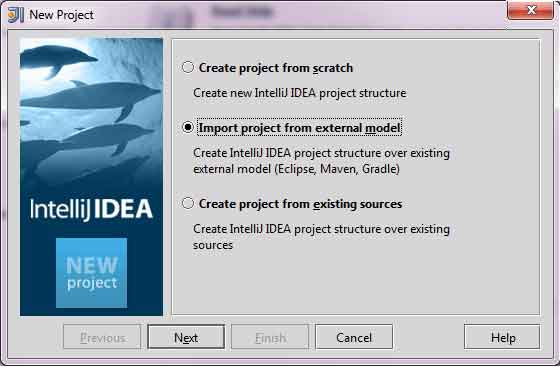 New Project in IntelliJ IDEA, step 1.