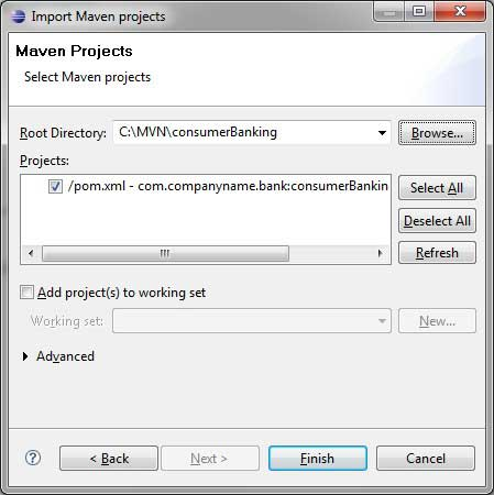 Import a maven project in Eclipse.