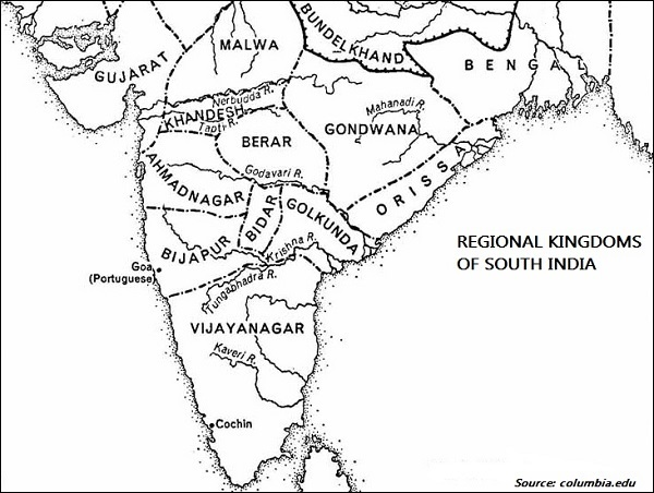 regional kingdoms of south india