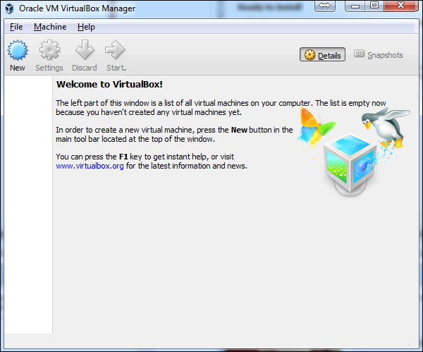 VirtualBox Screen