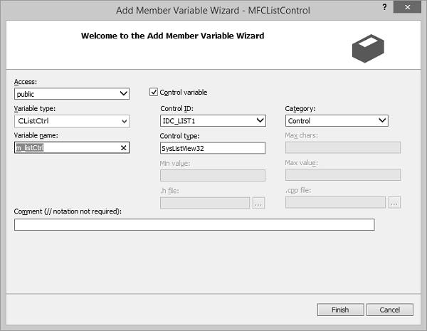 MFC - List Control - Tutorialspoint