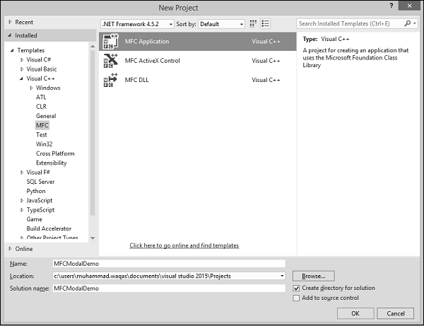 Dialog Based Project Template