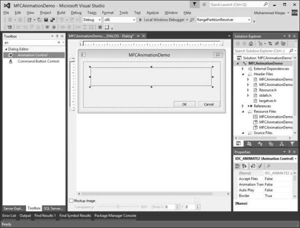 MFC - Animation Control