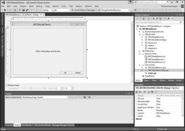 DialogBox Application
