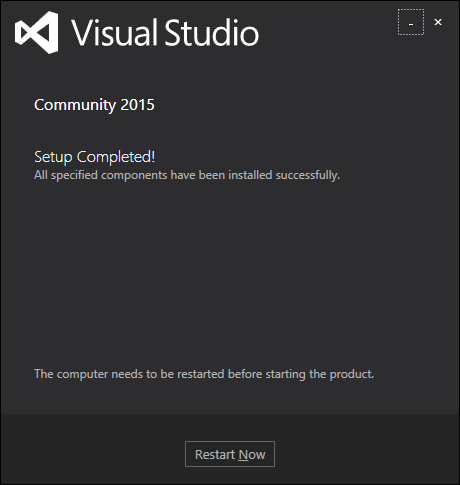 Visual Studio Installed