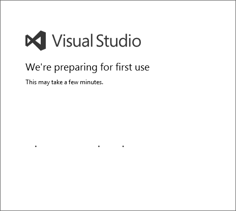 Visual Studio Preparing