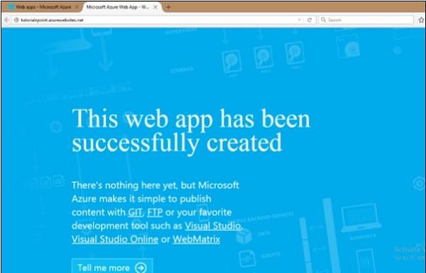 Create a Web App