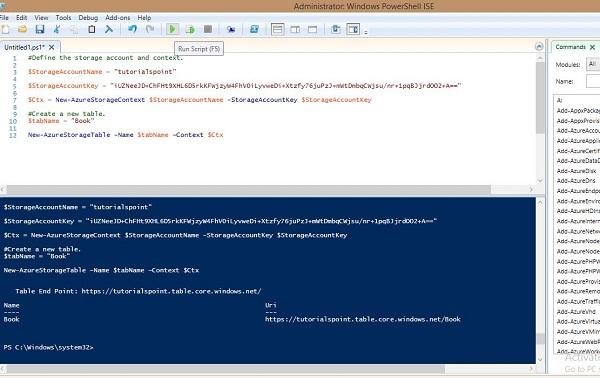 Microsoft Azure - Tables - Tutorialspoint
