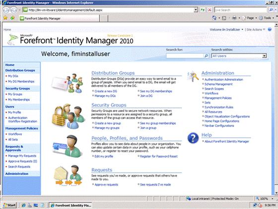 Forefront Identity Manager