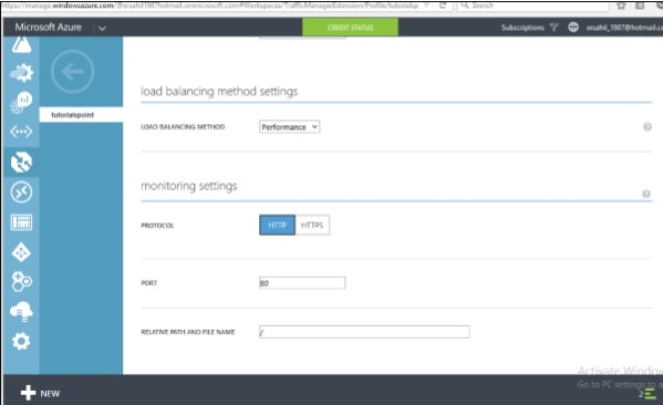 Load Balancing Settings