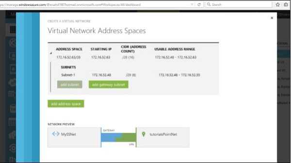 Virtual Network Address Spaces