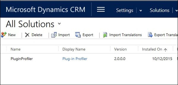 Mscrm import Solution Step 1