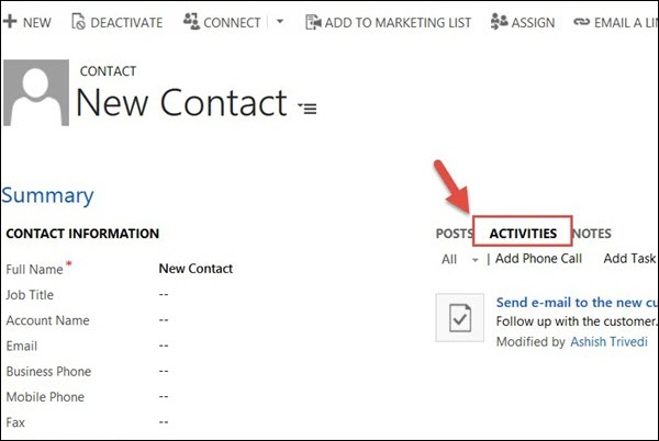 Mscrm Plugin Create Contact