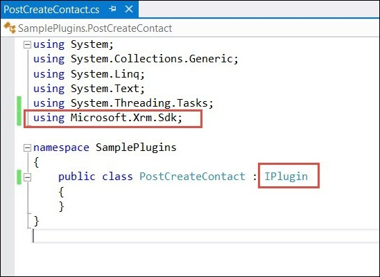Mscrm Plugin Sample Code