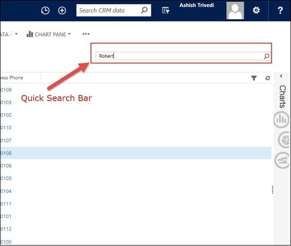 Microsoft Dynamics CRM - Searching