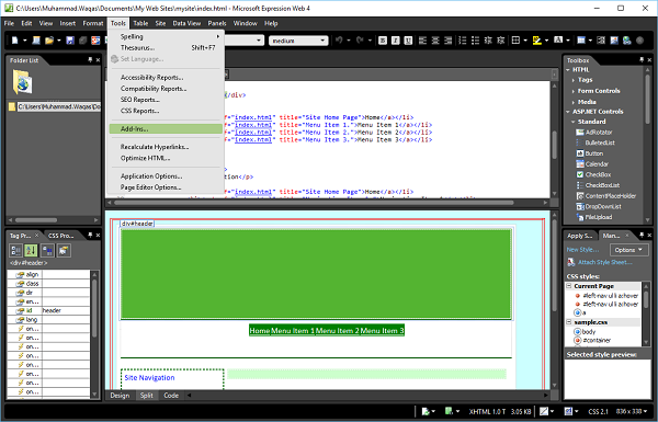 microsoft expressions templates - template per microsoft expression web tutorial unbound