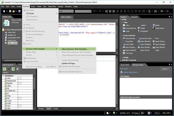 microsoft expressions templates - microsoft expression web dynamic web template