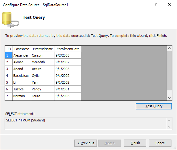 Microsoft Expression Web Gridview