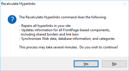 Recalculate Hyperlinks Command