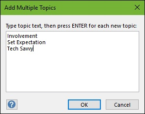 Add Multiple Topics