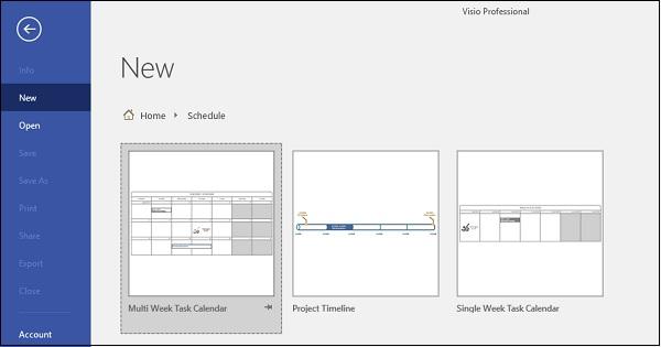 Microsoft Visio - Creating Calendars - Tutorialspoint