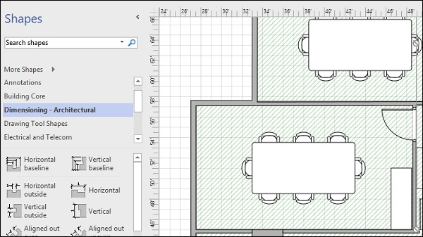 Microsoft visio adding dimensions to a floor plan dimesioning architectural malvernweather Gallery