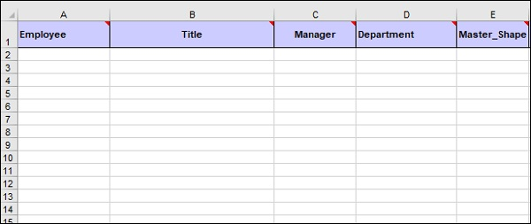Creating Information In An Excel Spreadsheet