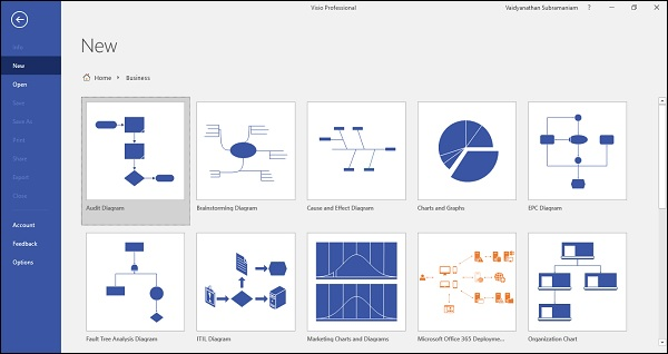 Microsoft visio working with org charts click the home button click new and select the templates tab in the templates tab go to the business category and click organization chart maxwellsz