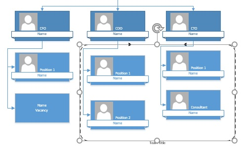 microsoft visio adding team frames to a diagram