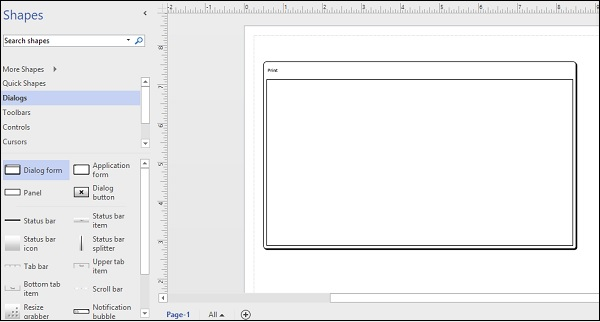 Wireframe Dialog Box