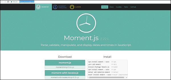 MomentJS - Quick Guide - Tutorialspoint