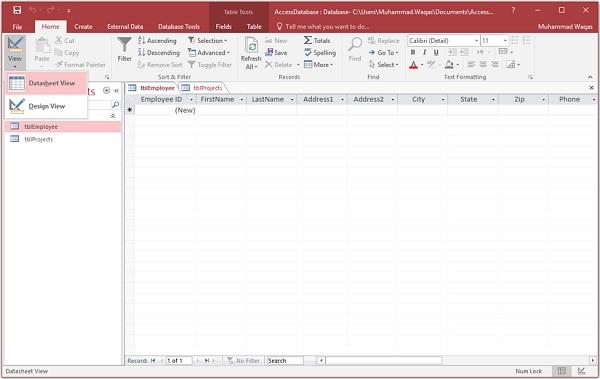 MS Access - Adding Data - Tutorialspoint