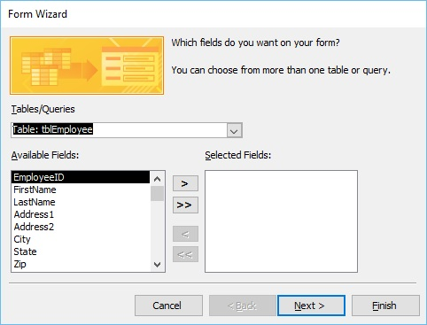 MS Access - Create Form