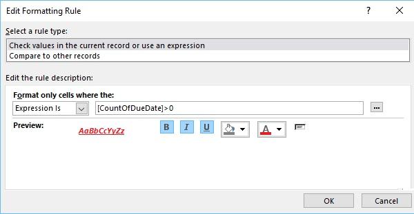 MS Access - Formatting - Tutorialspoint