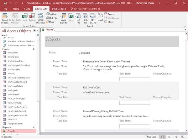 MS Access - Data Import - Tutorialspoint