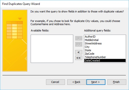 Next Query Wizard