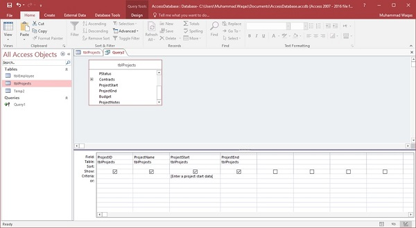 MS Access - Quick Guide - Tutorialspoint