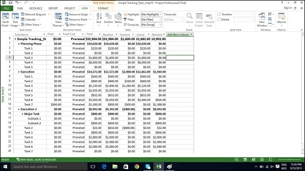 ms project cost View project costs in microsoft project - instructions: an overview, instructions, and a video lesson that show you how to monitor project costs in project.