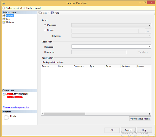 Management Studio Testinstance